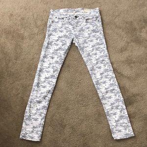 Rag & Bone Jeans skinny grey camo